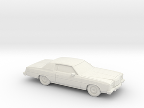 1/87 1974 Ford LTD Coupe in White Natural Versatile Plastic