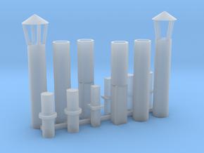 Abluftkamin 1 alt 2er Set TT 1:120 in Smooth Fine Detail Plastic