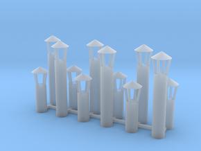 Abluftkamin 1 alt 12er Set TT 1:120 in Smooth Fine Detail Plastic