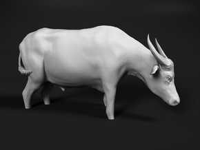Domestic Asian Water Buffalo 1:9 Stands in Water in White Natural Versatile Plastic