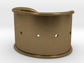 Cosplay Cuff Base (with holes for screw-back spike in Natural Bronze: Small
