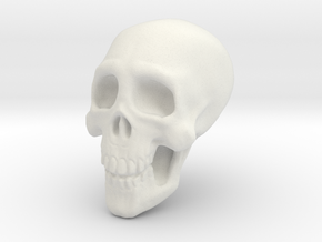 Tiny Skull in White Natural Versatile Plastic