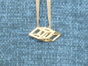 Bilinski Cubes Pendant II in Natural Bronze