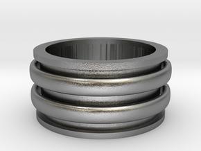 Celtic spinner size 9 in Interlocking Raw Silver