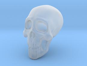 Larger Porcelain Skull in Smooth Fine Detail Plastic