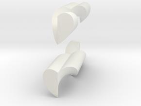 Heart Helix Pendant in White Natural Versatile Plastic
