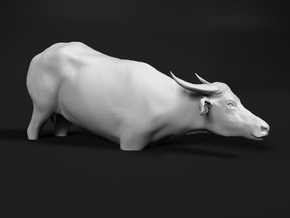Domestic Asian Water Buffalo 1:32 To Deeper Water in White Natural Versatile Plastic