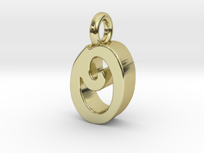O - Pendant 3mm thk. in 18k Gold Plated