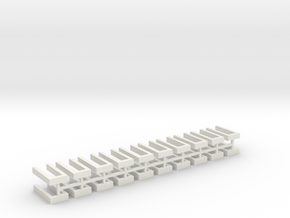 Hecke offen für Grabeinfassungen 20erSet 1:120 in White Natural Versatile Plastic