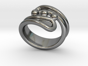 Threebubblesring 22 - Italian Size 22 in Fine Detail Polished Silver