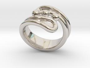 Threebubblesring 22 - Italian Size 22 in Platinum