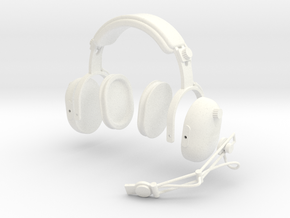 1.4 PILOT HEADSET CLARK in White Processed Versatile Plastic