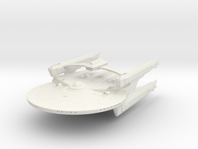 Falcon Class B  BattleCruiser in White Natural Versatile Plastic