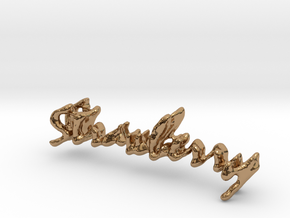 Strawberry Strawberry Necklace in Polished Brass