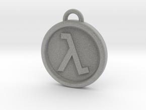 Half-Life Logo Keyring Keychain FOB in Metallic Plastic