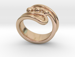 Threebubblesring 24 - Italian Size 24 in 14k Rose Gold Plated Brass