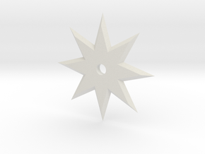 8 Point Ninja Star in White Natural Versatile Plastic