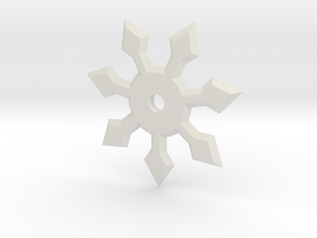 7 Point Ninja Star in White Natural Versatile Plastic