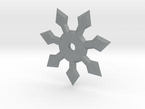 7 Point Ninja Star in Polished Metallic Plastic
