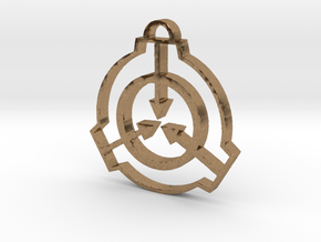 SCP Pendant in Natural Brass