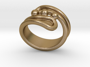 Threebubblesring 25 - Italian Size 25 in Polished Gold Steel
