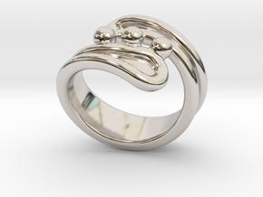 Threebubblesring 26 - Italian Size 26 in Platinum