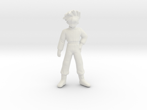 1/12 Anime Kid Driver in White Natural Versatile Plastic