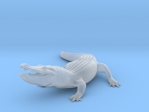 Printle Thing Alligator - 1/64  in Smooth Fine Detail Plastic