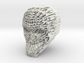 Rune Skull in White Natural Versatile Plastic