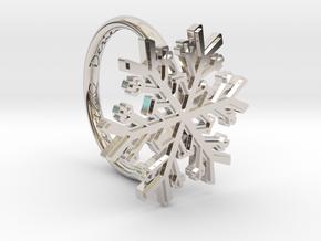 Snowflake Ring 1 d=16mm h21d16 in Platinum