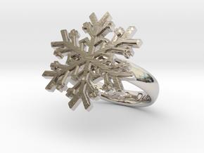 Snowflake Ring 1 d=16mm h35d16 in Platinum