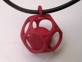 Dod Pendant with ball in White Natural Versatile Plastic