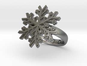 Snowflake Ring 1 d=16mm h35d16 in Natural Silver