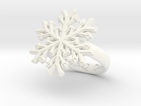 Snowflake Ring 1 d=16mm h35d16 in White Processed Versatile Plastic