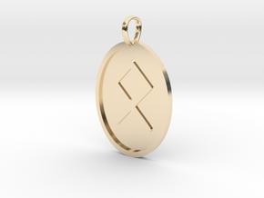 Othala Rune (Elder Futhark) in 14k Gold Plated Brass