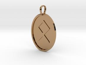 Othala Rune (Elder Futhark) in Polished Brass