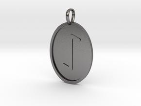 Eihwaz Rune (Elder Futhark) in Polished Nickel Steel