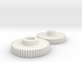 M240 Box Mag Gear Replacement Set (v1) in White Natural Versatile Plastic