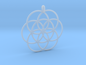 Flower of Life - Hollow Pendant in Smooth Fine Detail Plastic