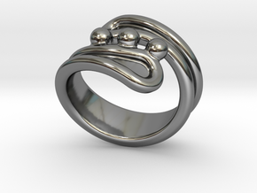 Threebubblesring 29 - Italian Size 29 in Fine Detail Polished Silver