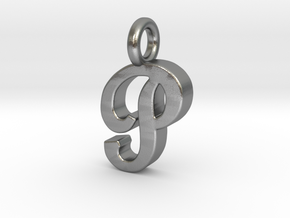 P - Pendant 2mm thk. in Natural Silver