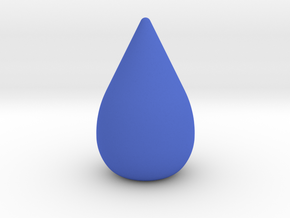 Round Droplet Game Piece in Blue Processed Versatile Plastic