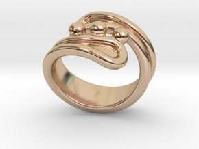 Threebubblesring 30 - Italian Size 30 in 14k Rose Gold Plated Brass