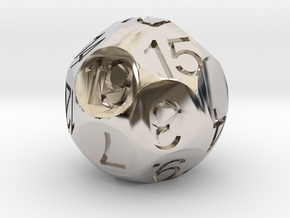 D19 Sphere Dice in Rhodium Plated Brass