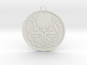 Cultist Amulet in White Natural Versatile Plastic