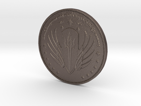 Gondorian Coin in Polished Bronzed Silver Steel