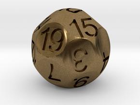 D19 Sphere Dice in Natural Bronze