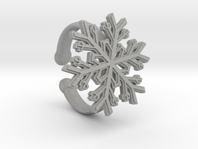 Snowflake Ring 1 d=16.5mm Adjustable h35d165a in Aluminum