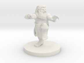 Dwarf Monk with Glorious Hair in White Strong & Flexible