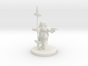 Dwarf Monk / Weaponmaster in White Natural Versatile Plastic
